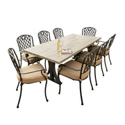 whitehorse outdoor dining setting. Available at the springs garden world toowoomba