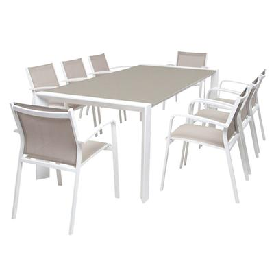 Designed for alfresco dining the vienna and loft outdoor dining setting has been made with durable aluminium. Available at The springs Garden World, Toowoomba's Outdoor furniture specialists