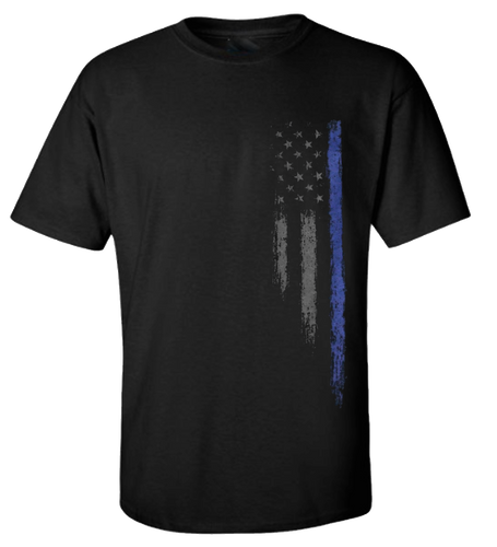 5 Star Grunge Style Blue Stripe  USA American Flag Men's Short Sleeve T-Shirt