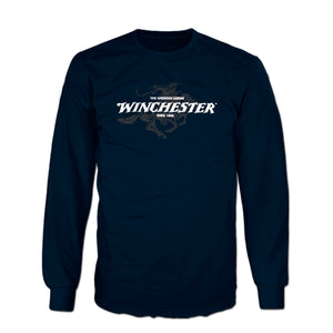 Official Winchester Mens Cotton Legend Rider Graphic Printed Long Sleeve T-Shirt