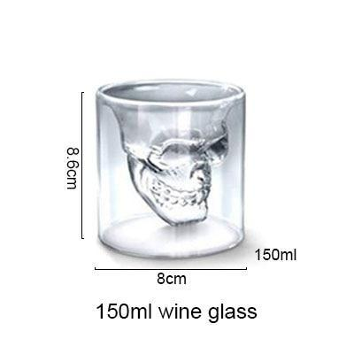 AKUHOME Store Other Glass large 3D Skull Glass Cup 14:10