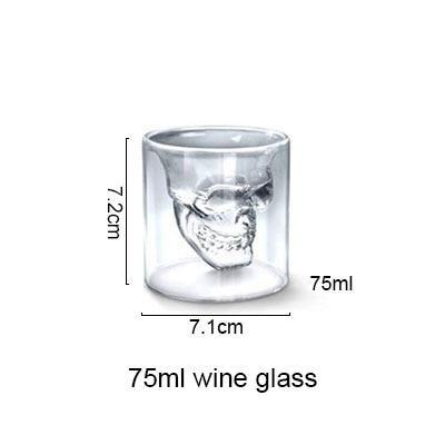AKUHOME Store Other Glass middle 3D Skull Glass Cup 14:175