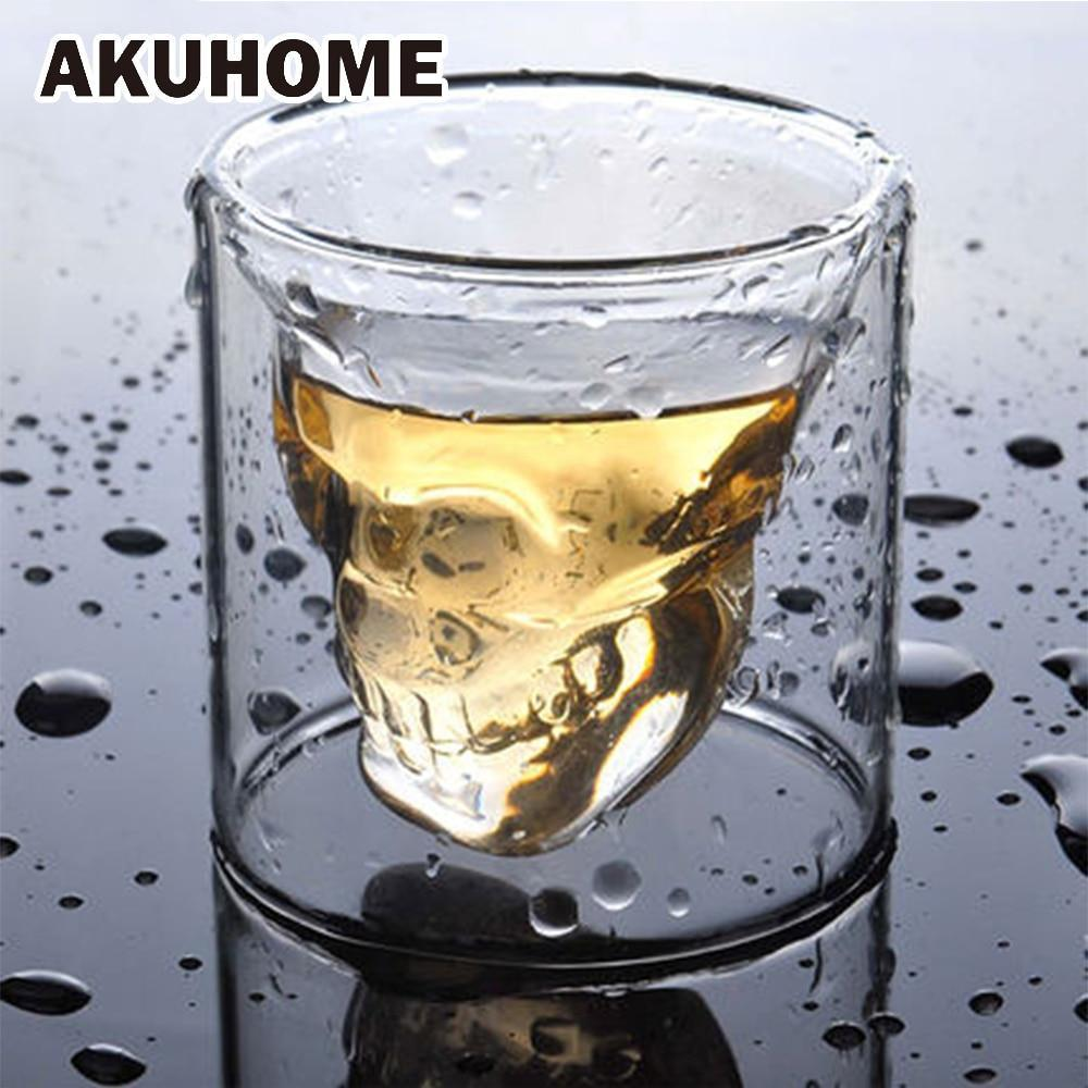 3D Skull Glass Cup