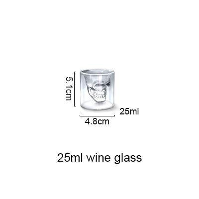 AKUHOME Store Other Glass small 3D Skull Glass Cup 14:193