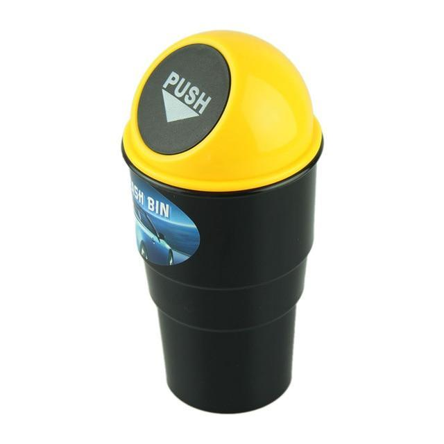 AODMUKI Official Store Waste Bins YELLOW Compact Car Trash Can 14:366