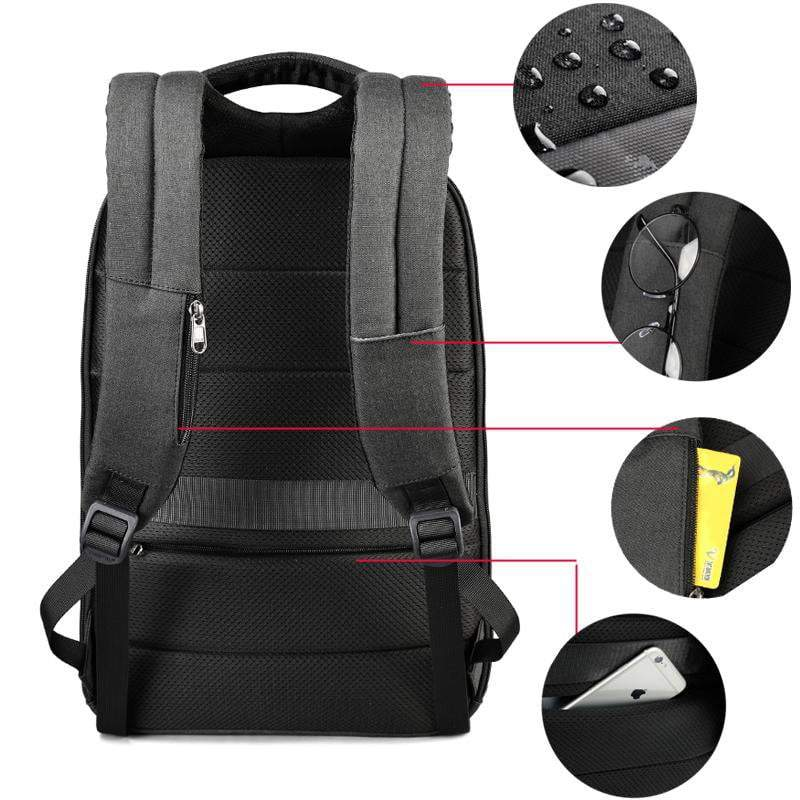Sparkle Red Black grey / China Water Resistant USB Charging Port Travel Backpack