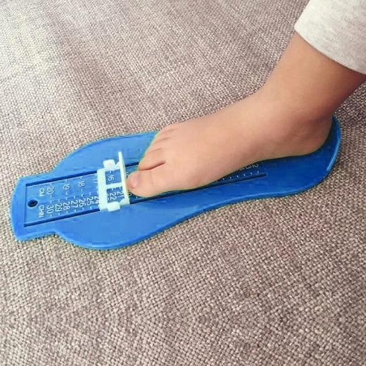 Sparkle Red Blue Infant Foot Measure