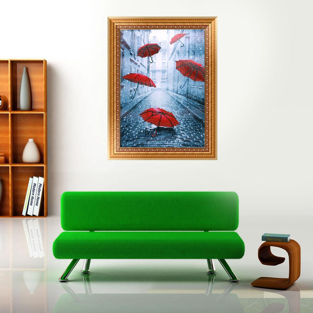 Sparkle Red DIY Resin Painting Red Umbrella