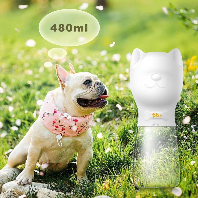 Sparkle Red Dog Feeding Pink / 350 ml Portable Pet Dog Water Bottle For Small Large Dogs Travel Puppy Cat Drinking Bowl Outdoor Pet Water Dispenser Feeder Pet Product