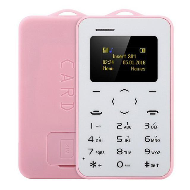 Sparkle Red English Keyboard / Pink Super Thin Mini-Cell Phone For Kids