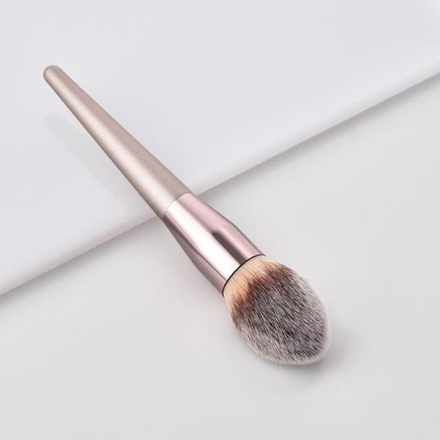 Sparkle Red Eye Shadow Applicator 3 Luxury Champagne Makeup Brushes
