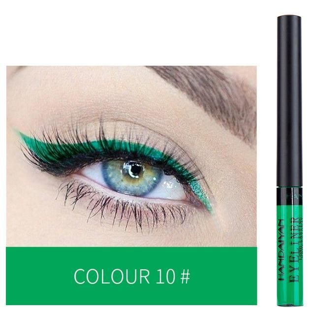Sparkle Red Eyeliner 10 Waterproof Colorful Liquid Eye Liner 200001176:200006157
