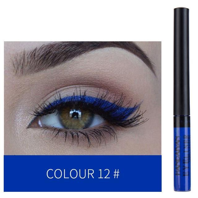 Sparkle Red Eyeliner 12 Waterproof Colorful Liquid Eye Liner 200001176:193