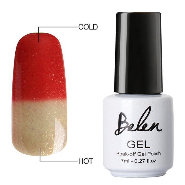 Sparkle Red Fashion 5040 Color Changing Gel Polish