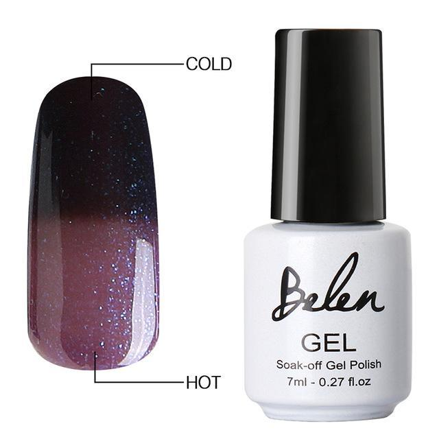 Sparkle Red Fashion 9047 Color Changing Gel Polish