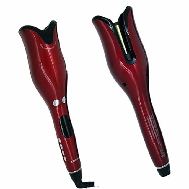 Sparkle Red Fashion red / US Rotating Magic Hair Curler