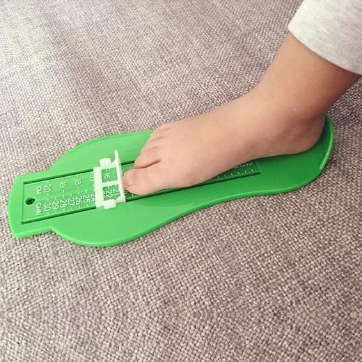Sparkle Red Green Infant Foot Measure