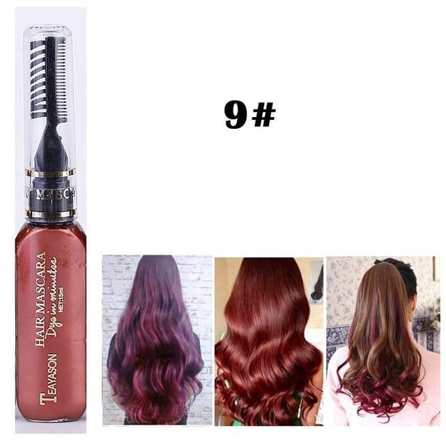 Sparkle Red Hair Color 9 Washable Hair Color Mascara 14:173