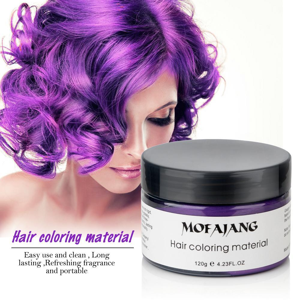 Sparkle Red Hair Color black Hair Styling Color Wax 14:193