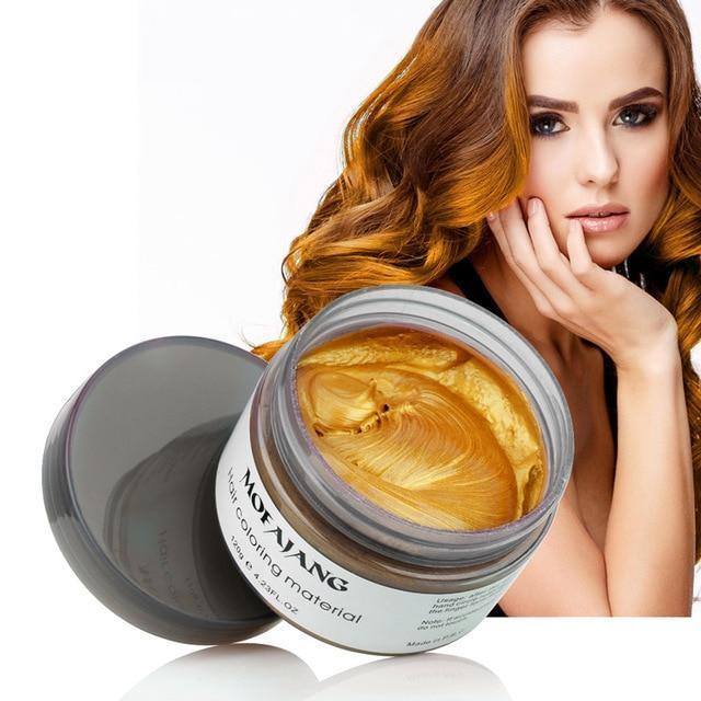 Sparkle Red Hair Color gold Hair Styling Color Wax 14:350852