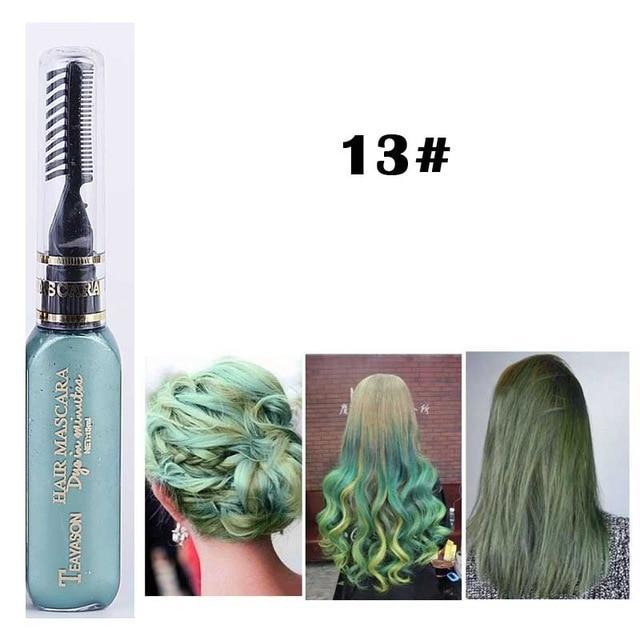 Sparkle Red Hair Color Green Washable Hair Color Mascara 14:496