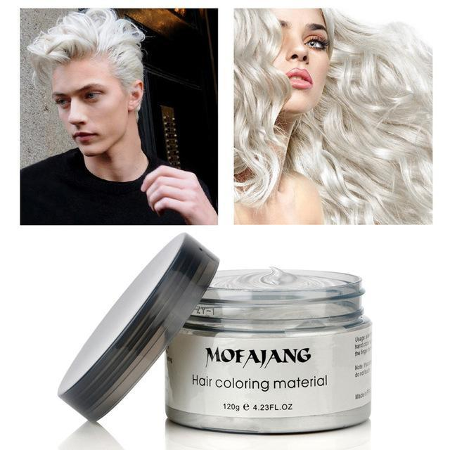 Sparkle Red Hair Color ivory white Hair Styling Color Wax 14:200004891