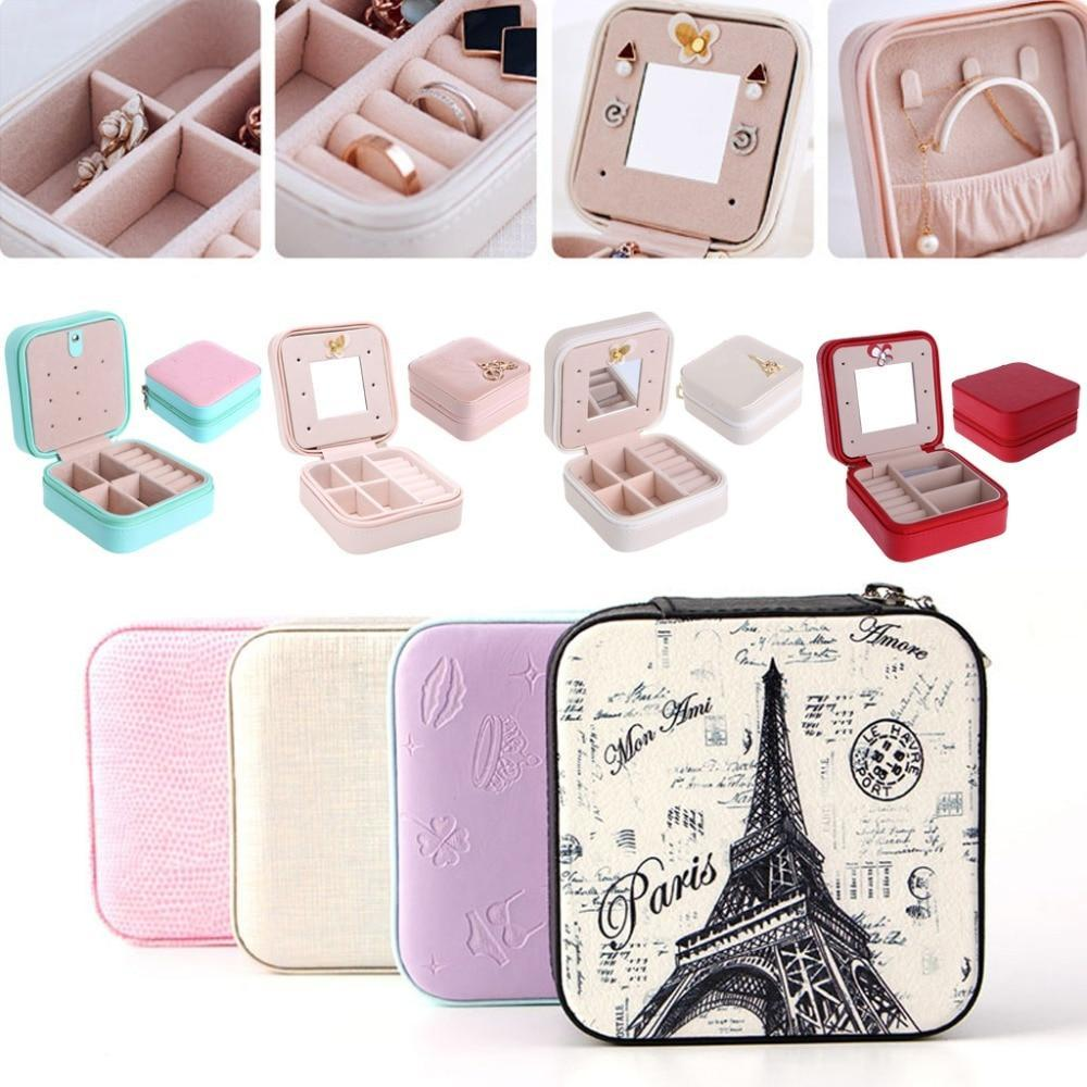 Travel Jewelry Box With Mirror