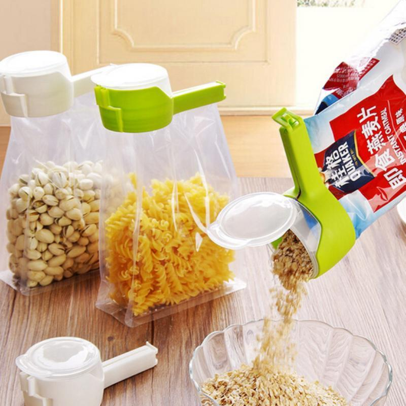 Sparkle Red Kitchen White Food Saver Clip