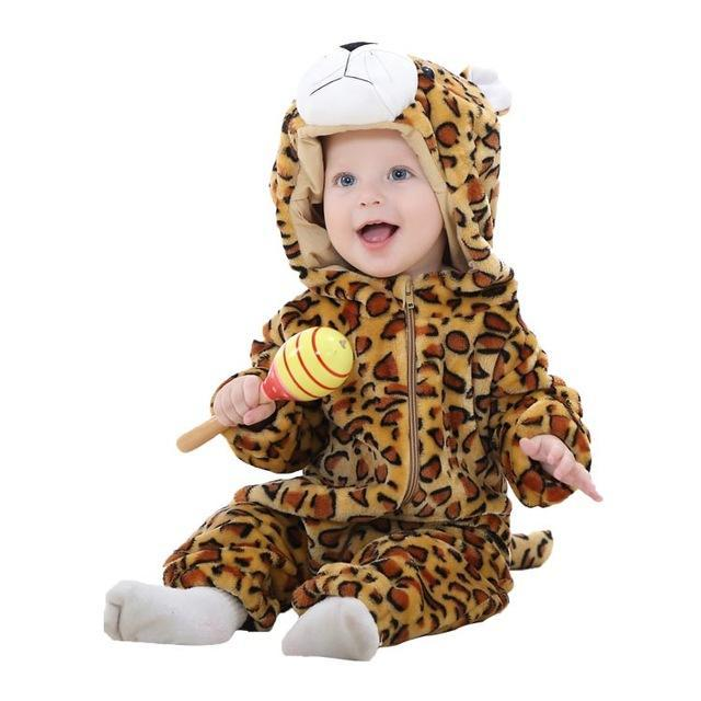 Sparkle Red Leopard / 3M / China Animal Jumpsuit for Kids