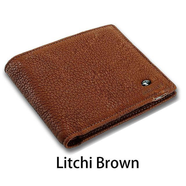 Sparkle Red Litchi Brown Smart Wallet with GPS
