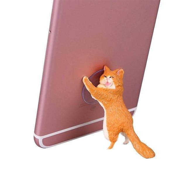 Sparkle Red Mobile Phone Holders & Stands Orange Charming Cat Mobile Phone Holder 14:350852