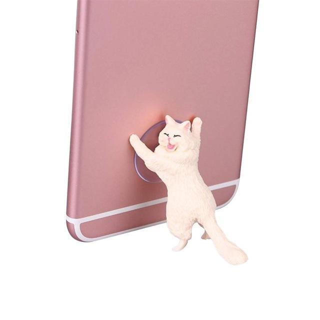 Sparkle Red Mobile Phone Holders & Stands WHITE Charming Cat Mobile Phone Holder 14:29
