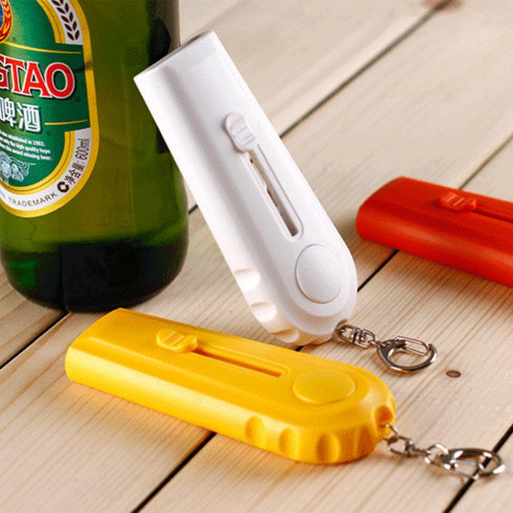 Sparkle Red Orange Flying Cap Bottle Opener and Launcher