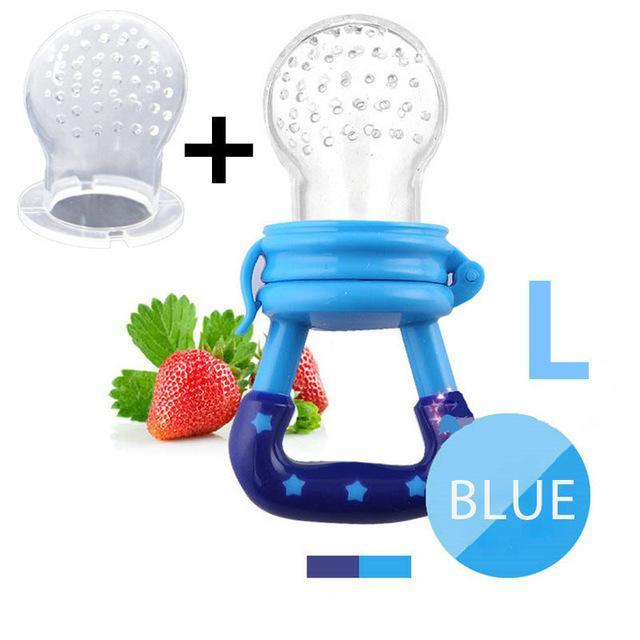 Sparkle Red Pacifier blue L Baby Fresh Fruit Feeder Pacifier 14:175