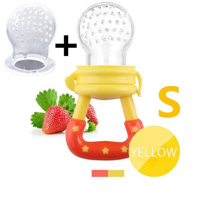 Sparkle Red Pacifier yellow S Baby Fresh Fruit Feeder Pacifier 14:366