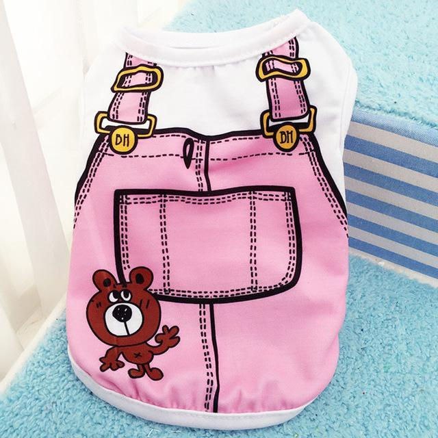 Sparkle Red Pets pink / L Cartoon Print Dog Vest