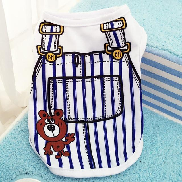 Cartoon Print Dog Vest