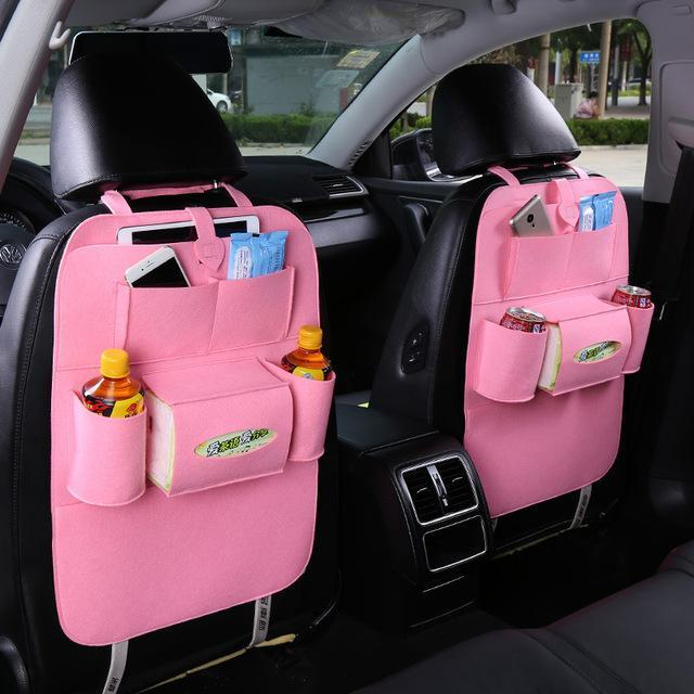 Sparkle Red Pink Multi-Pocket Car Backseat Organizer