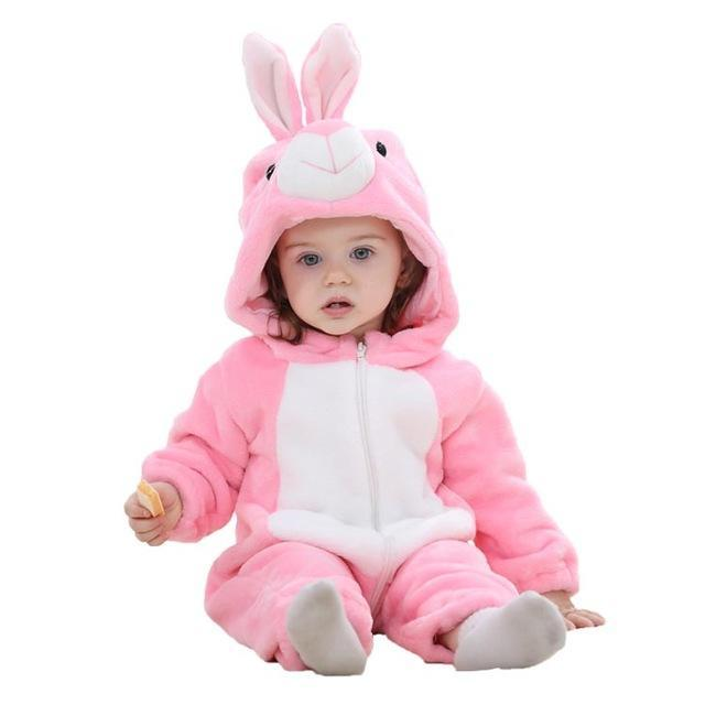 Sparkle Red pink rabbite / 3M / China Animal Jumpsuit for Kids