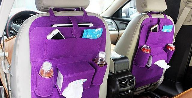 Sparkle Red Purple Multi-Pocket Car Backseat Organizer