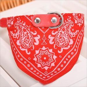 Sparkle Red Red / M Adjustable Dog & Cat Collar Neckerchief
