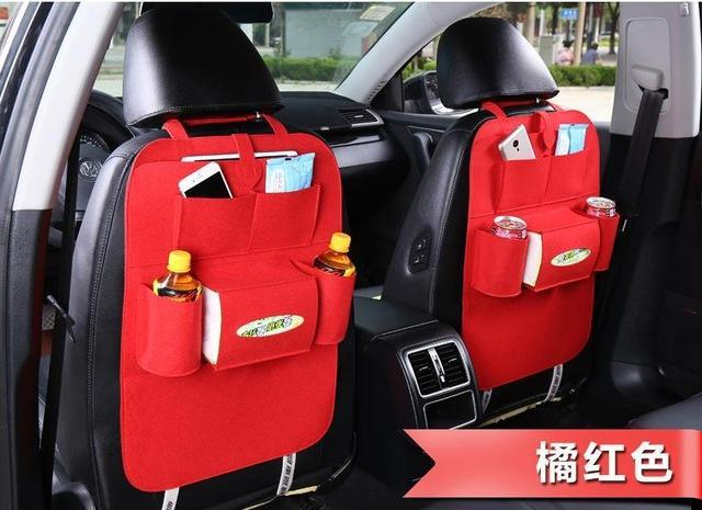Sparkle Red Red Multi-Pocket Car Backseat Organizer