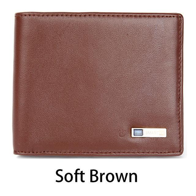Sparkle Red Soft Brown Smart Wallet with GPS