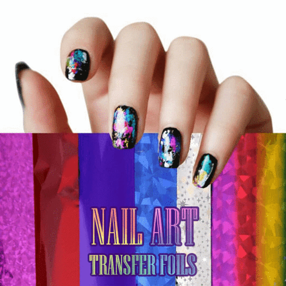 12Pcs Nail Art Transfer Foils