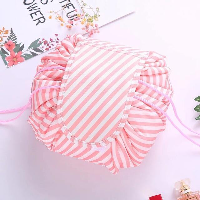 Sparkle Red Storage Bags Pink stripe Brisk Makeup Bag 14:100018786