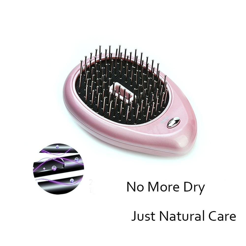 Sparkle Red Straightening Irons Pink Portable Ionic Styling Hair Brush 14:10