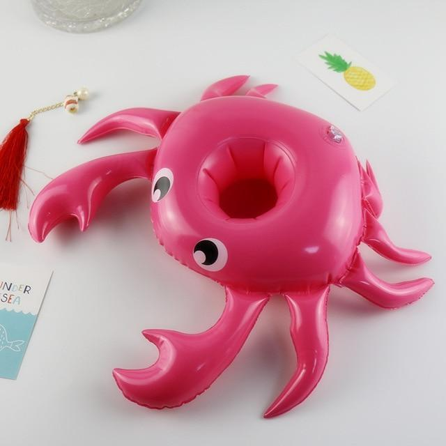 Sparkle Red Swimming Rings Crab Swimming Pool Floating Cup Holder 14:193