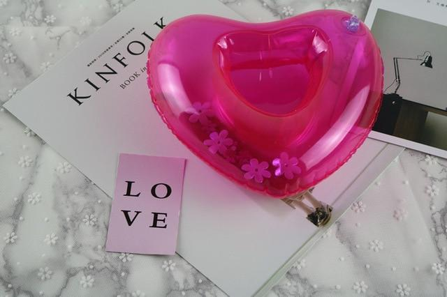 Sparkle Red Swimming Rings heart Swimming Pool Floating Cup Holder 14:175