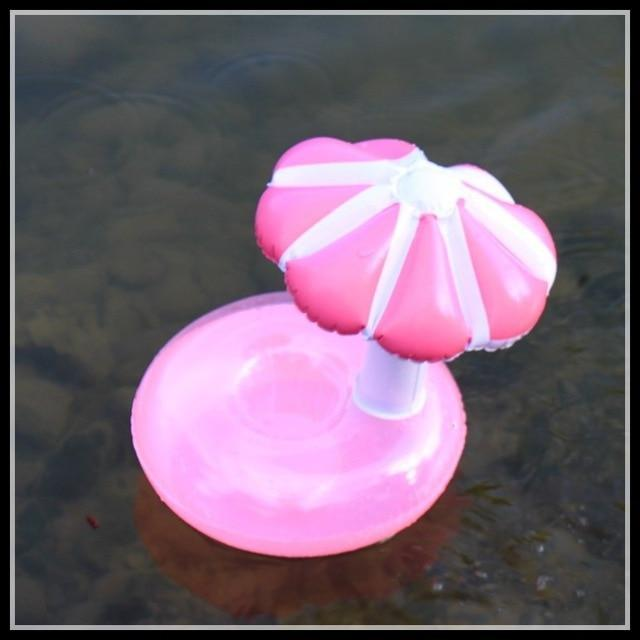 Sparkle Red Swimming Rings mushroom pink Swimming Pool Floating Cup Holder 14:496