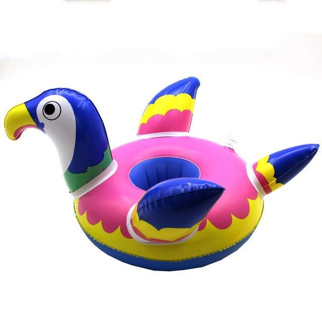 Sparkle Red Swimming Rings parrot Swimming Pool Floating Cup Holder 14:200003699